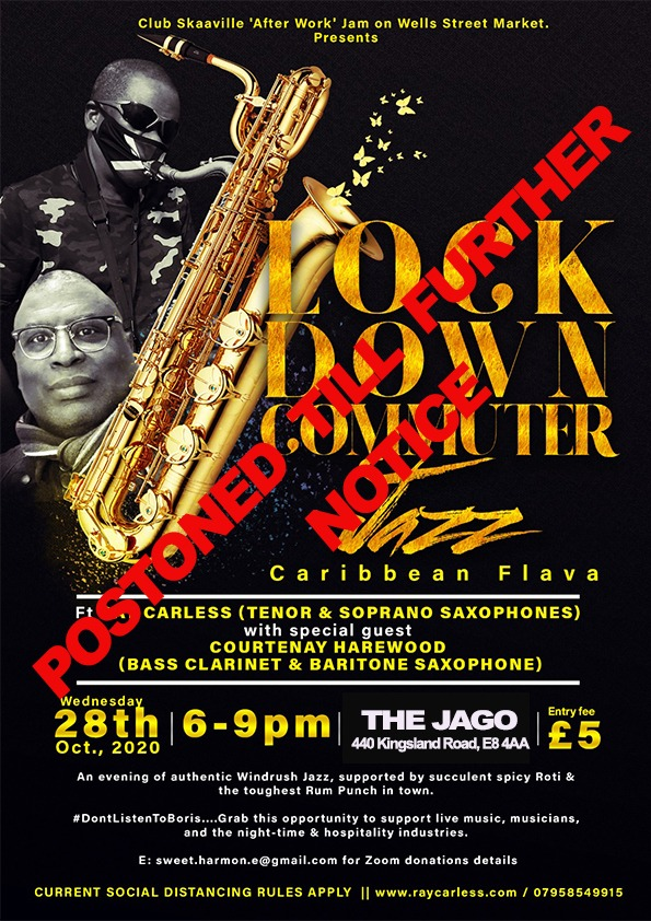 Lock Down Commuter Jazz - Postponed