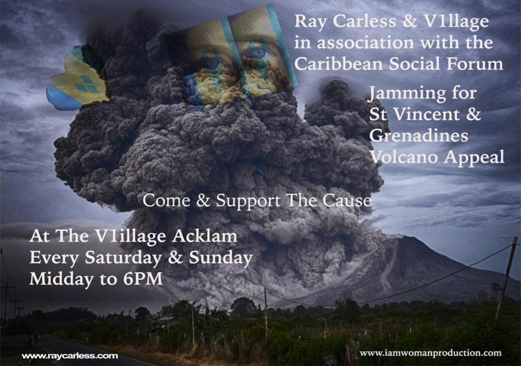 Jamming for St. Vincent Volcano Appeal